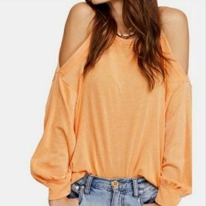 WE THE FREE Tangerine Chill Out Long Sleeve Top L